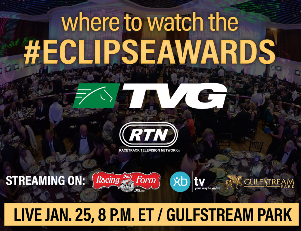 TVG to Air Eclipse Awards Live Jan. 25