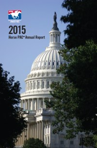 Cover of 2015 Horse PAC Annual Report (resized small)