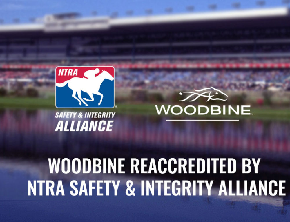 Woodbine Reaccredited by NTRA Safety & Integrity Alliance